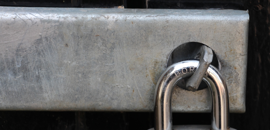 Picture of lock on door (taken by Jina Jay)