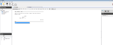 Screenshot of the Celtx workspace