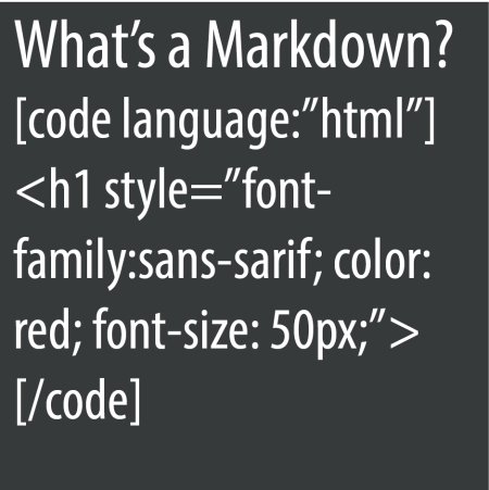 What's a Markdown code?