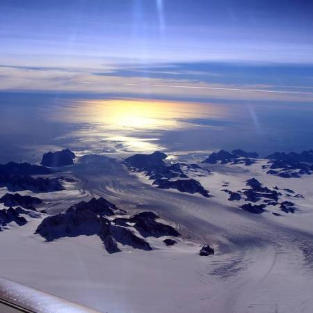 Picture captured by NASA's IceBridge, Helheim/Kangerdlugssuaq region of Greenland (on 11 Sep 2016). Image Credit: NASA/John Sonntag