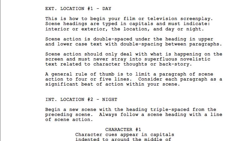 how to find film scripts online crossfade