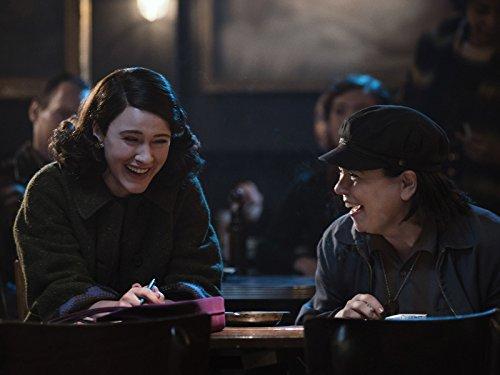 Alex Borstein and Rachel Brosnahan in The Marvelous Mrs. Maisel (2017)